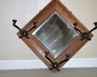 Vintage Beveled Glass Mirror