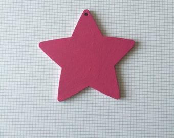 Hot pink wooden star
