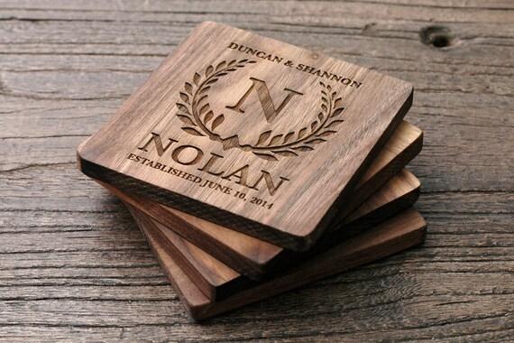Personalized Coasters Wedding Gift: Personalized Wedding Coasters Wedding Favors Wedding