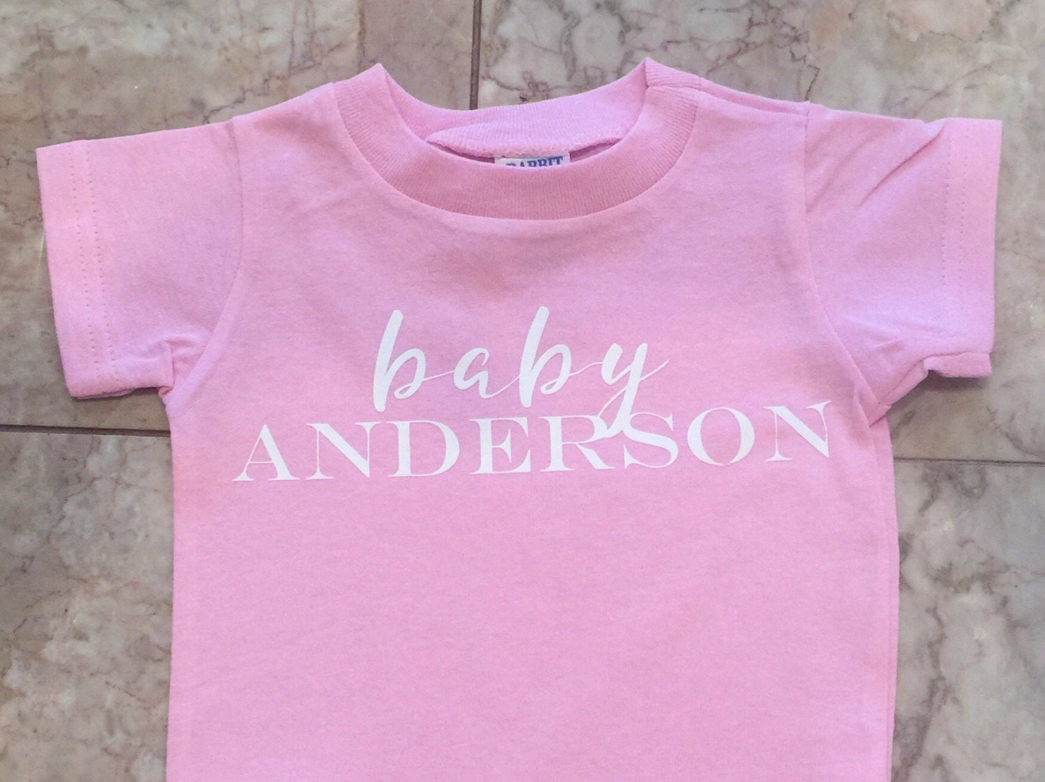 Baby Onesie with families last name baby shower by ...