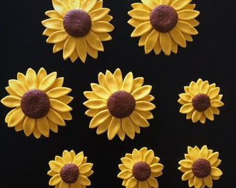 60 Fondant Sunflowers