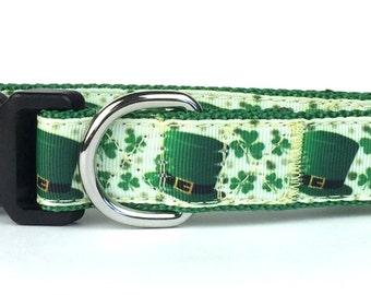 St. Patrick's Day Leprechaun Nylon Dog Collar