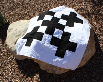 Modern Black and White Baby Blanket