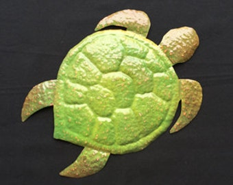 Copper Turtle Sculpture