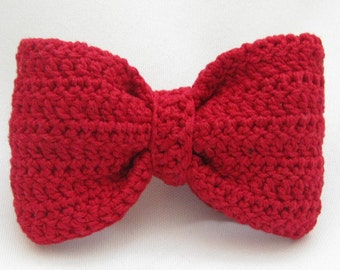 Red Crochet Hairbow