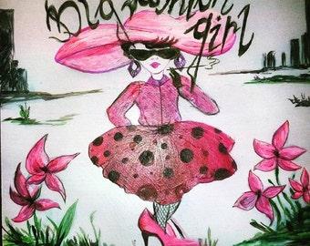 Big fashion lady