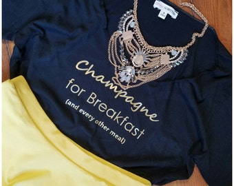 Champagne for Breakfast Relaxed Tee