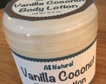 All Natural Vanilla Coconut Body Cream