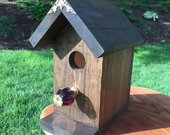 Hand crafted, one of a kind bird house