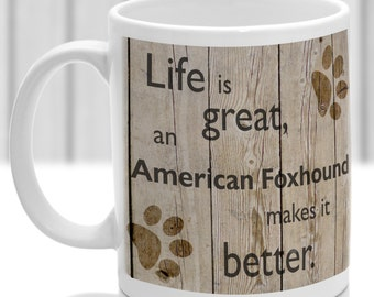 American Foxhound dog mug, American Foxhound gift, ideal present for dog lover