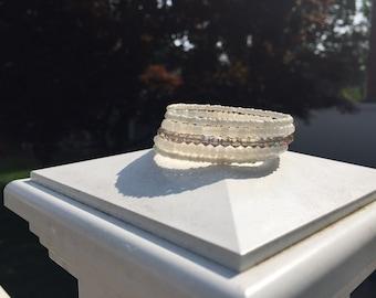 Crystal White Wrap Bracelet
