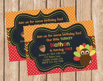 Turkey Birthday Invitation