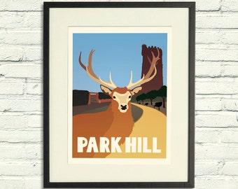 Park Hill - A2 Poster Print