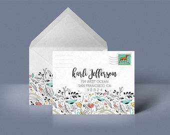Multi Colored Pattern Custom Printable Envelope Stationery