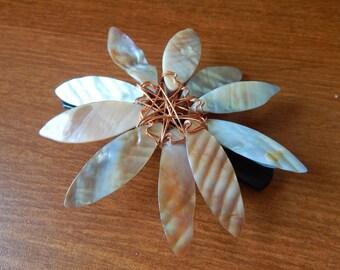Shell Flower Barrette