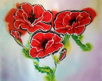 Poppies - Silkpainting