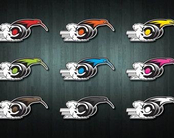 Speedy Kiwi on Wheels Stickers