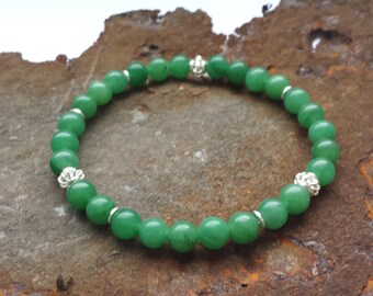 Aventurine bracelet with 925 Silver items