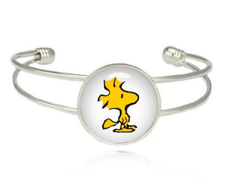 Peanuts Snoopy Charlie Brown Woodstock Cuff Bangle Bracelet Lucy Fandom Jewelry Cosplay Fangirl Fanboy