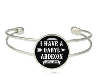 Daryl Dixon Cuff Bangle Bracelet Fandom Jewelry The Walking Dead Fangirl Fanboy