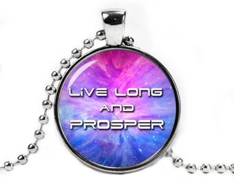Live Long and Prosper Necklace Pendant Star Trek Jewelry Geeky Jewelry