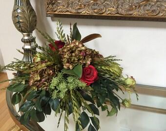 Floral arrangement, Centerpiece, Silk flower arrangement, Artificial arrangement, Silk Centerpiece