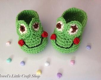 Happy Frog Baby Booties