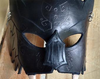Handmade Leather Bat Mask