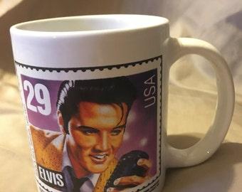 1992 Elvis Presley Stamp commerative coffee cup, mug