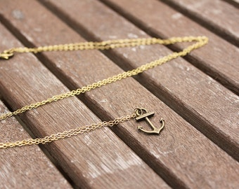 Nautical Anchor Necklace, Anchor Jewellery, Nautical Jewellery
