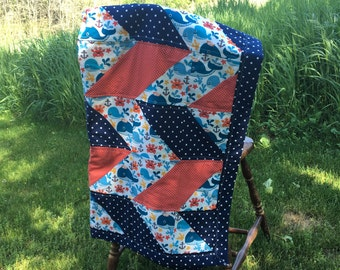 Baby Quilt Whale