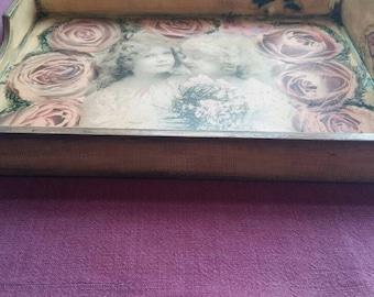 decoupage tray / platter