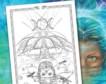 Coloring Pages Totem Animals : Fantasy coloring pages sea turtle totem totem