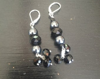Gorgeous purple dangle earrings