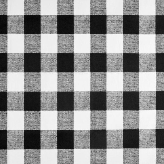 Black And White Plaid Gingham Check Curtains By Sewmanylinens