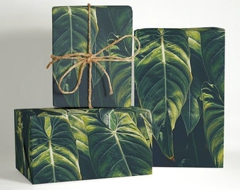 Tropical Leaves Wrapping Paper; Nature Gift Wrapping; Tropical Wrapping Paper; Gift Wrapping; Christmas Wrapping Paper; Tropical Theme Gift