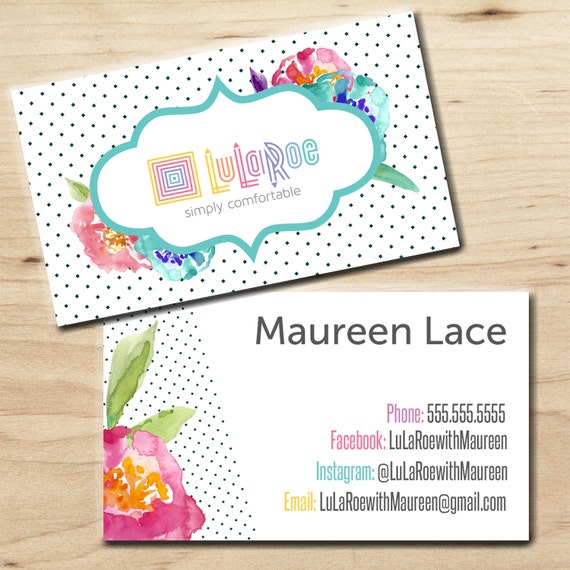 Lularoe business card personalized digital by for Etsy lularoe business cards
