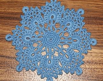 Small crochet doily coasters Set 4  Набор из 4-х салфеток-подстаканников