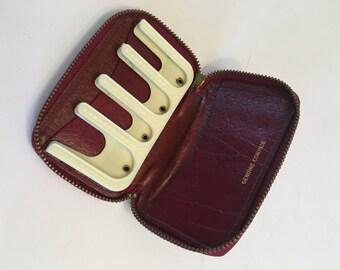 Vintage coin purse, change holder, coin holder, change wallet, cowhide, genuine lesther