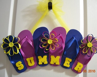 Summer Flip Flop door decoration