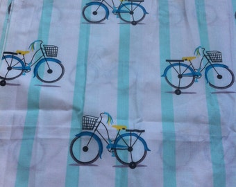 fabric pattern retro bicycle