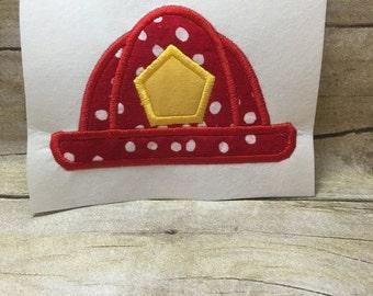 Firefighter Hat Applique, Firefighter Applique