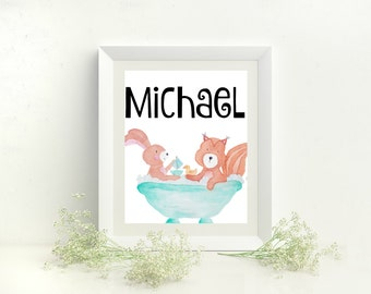 Michael name sign, Michael Name print, Michael artwork, Michael Name art, Michael monogram, Michael print room, Michael print nursery