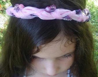 Beaded Pink and Purple Tiara