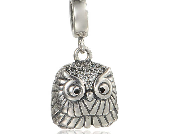Cute Owl Pendant Charm | Silver Jewellery Charms, Personalised Gift for Her, Easter Owl Pendant Jewellery, Charms for Bracelet Necklace