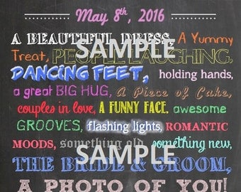 Wedding Photo Hunt Chalkboard Style Artwork - Customized for download