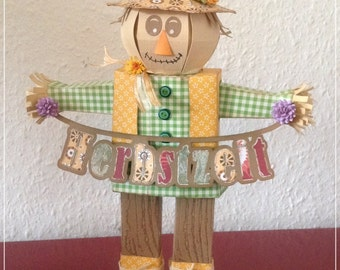 Autumn, decoration, scarecrow, paper