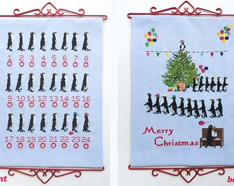 Penguin Party Advent Calendar Cross Stitch Kit