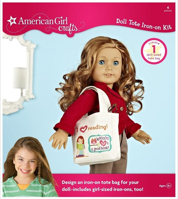 American girl crafts doll iron on kit tote by itsfancyny for American girl craft kit