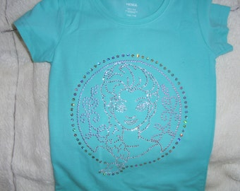 Mint green t, shirt with frozen SOLD